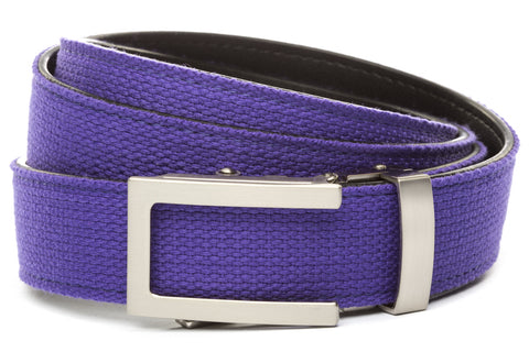 1-25-quot-traditional-buckle-in-silver 1-25-quot-purple-canvas-strap