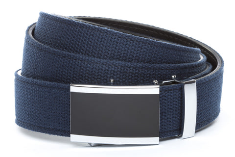 1-25-quot-onyx-buckle 1-25-quot-navy-canvas-strap