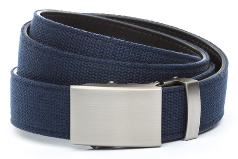 1-25-quot-classic-buckle-in-gunmetal 1-25-quot-navy-canvas-strap