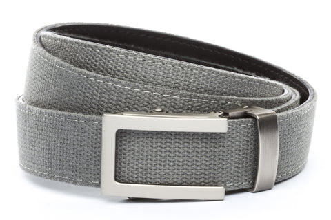 1-25-quot-traditional-buckle-in-gunmetal 1-25-quot-grey-canvas-strap