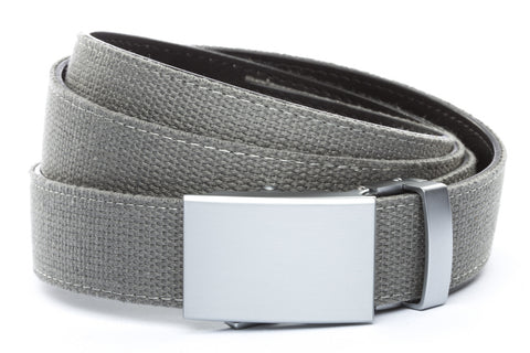 1-25-quot-classic-buckle-in-silver 1-25-quot-grey-canvas-strap