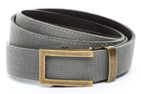 1-25-quot-traditional-buckle-in-antiqued-gold 1-25-quot-grey-canvas-strap