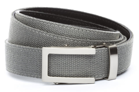 1-25-quot-traditional-buckle-in-silver 1-25-quot-grey-canvas-strap