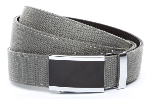 1-25-quot-onyx-buckle 1-25-quot-grey-canvas-strap