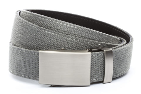 1-25-quot-classic-buckle-in-gunmetal 1-25-quot-grey-canvas-strap