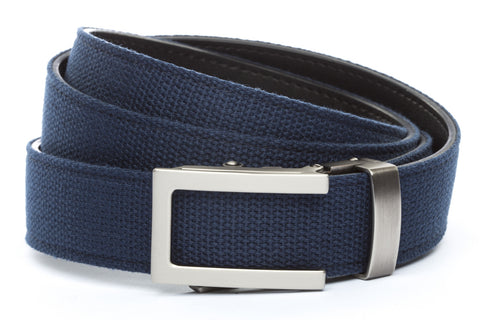 1-25-quot-traditional-buckle-in-gunmetal 1-25-quot-navy-canvas-strap