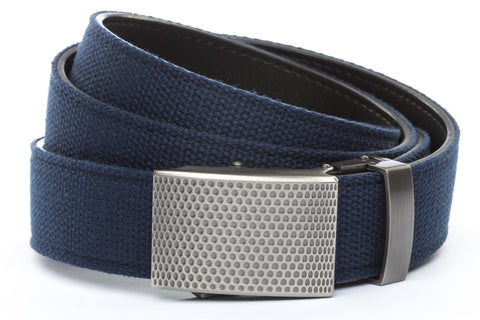 1-25-quot-anson-golf-buckle-in-gunmetal 1-25-quot-navy-canvas-strap