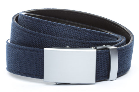 1-25-quot-classic-buckle-in-silver 1-25-quot-navy-canvas-strap