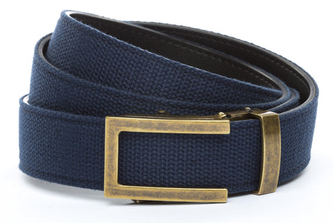 1-25-quot-traditional-buckle-in-antiqued-gold 1-25-quot-navy-canvas-strap