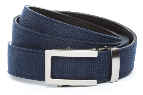 1-25-quot-traditional-buckle-in-silver 1-25-quot-navy-canvas-strap