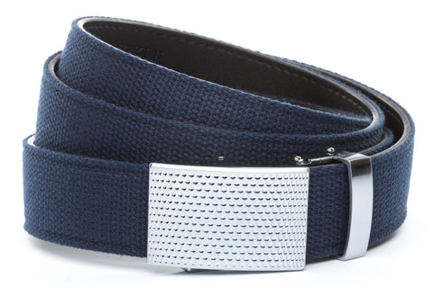 1-25-quot-anson-golf-buckle-in-silver 1-25-quot-navy-canvas-strap