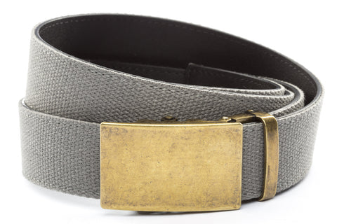 1-5-quot-classic-buckle-in-antiqued-gold 1-5-quot-grey-canvas-strap