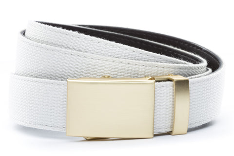 1-25-quot-classic-buckle-in-matte-gold 1-25-quot-white-canvas-strap