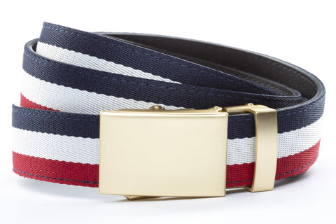 1-25-quot-classic-buckle-in-matte-gold 1-25-quot-red-white-blue-cloth-strap