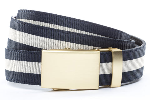 1-25-quot-classic-buckle-in-matte-gold 1-25-quot-navy-white-stripe-cloth-strap
