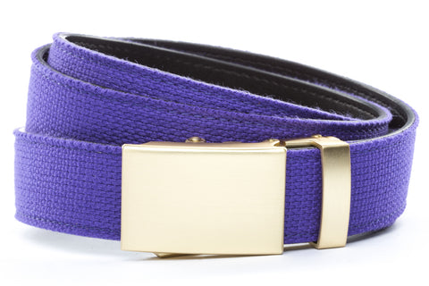 1-25-quot-classic-buckle-in-matte-gold 1-25-quot-purple-canvas-strap