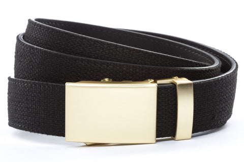 1-25-quot-classic-buckle-in-matte-gold 1-25-quot-black-canvas-strap