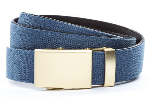 1-25-quot-classic-buckle-in-matte-gold 1-25-quot-marine-blue-canvas-strap
