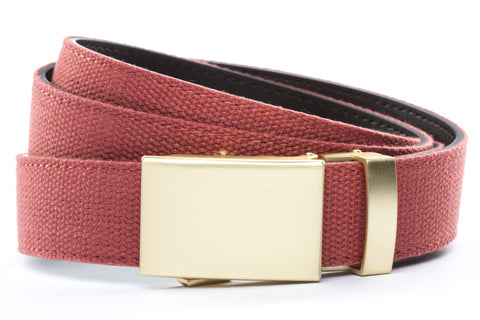 1-25-quot-classic-buckle-in-matte-gold 1-25-quot-salmon-canvas-strap