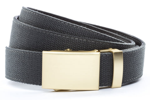 1-25-quot-classic-buckle-in-matte-gold 1-25-quot-graphite-canvas-strap