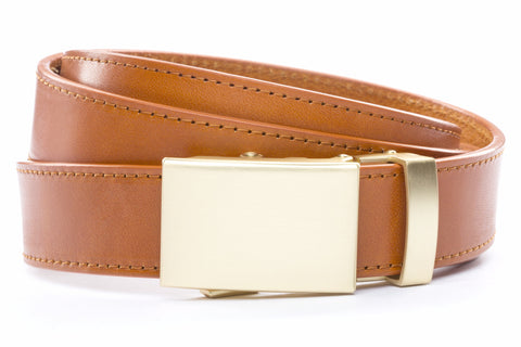 1-25-quot-classic-buckle-in-matte-gold 1-25-quot-saddle-tan-vegetable-tanned-leather-strap