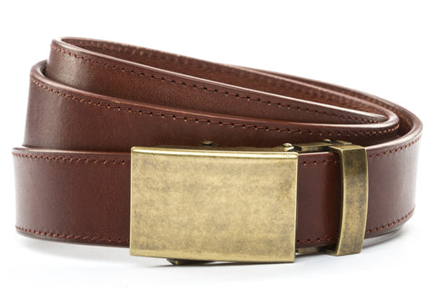 1-25-quot-classic-buckle-in-antiqued-gold 1-25-quot-picante-vegetable-tanned-leather-strap
