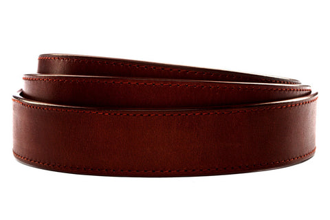 "**FACTORY SECOND** 1.25"" Picante Vegetable Tanned Leather Strap (darker than normal)"