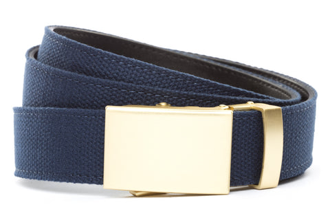 1-25-quot-classic-buckle-in-matte-gold 1-25-quot-navy-canvas-strap