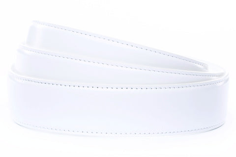"1.5"" White Leather Strap - Anson Belt & Buckle"