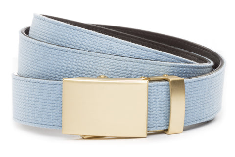 1-25-quot-classic-buckle-in-matte-gold 1-25-quot-light-blue-canvas-strap