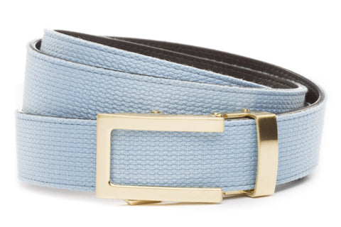 1-25-quot-traditional-buckle-in-gold 1-25-quot-light-blue-canvas-strap