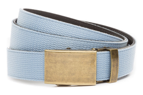 1-25-quot-classic-buckle-in-antiqued-gold 1-25-quot-light-blue-canvas-strap