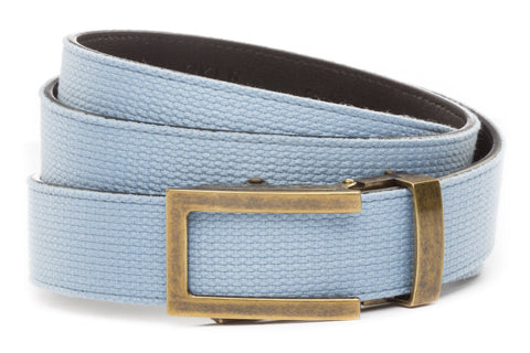 1-25-quot-traditional-buckle-in-antiqued-gold 1-25-quot-light-blue-canvas-strap