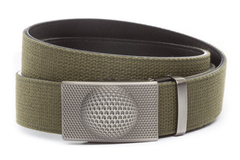 1-5-quot-anson-golf-buckle-in-gunmetal 1-5-quot-olive-drab-canvas-strap
