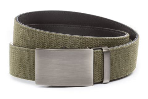 1-5-quot-classic-buckle-in-gunmetal 1-5-quot-olive-drab-canvas-strap