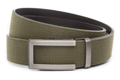 1-5-quot-traditional-buckle-in-gunmetal 1-5-quot-olive-drab-canvas-strap