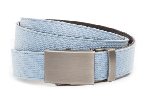 1-25-quot-classic-buckle-in-gunmetal 1-25-quot-light-blue-canvas-strap