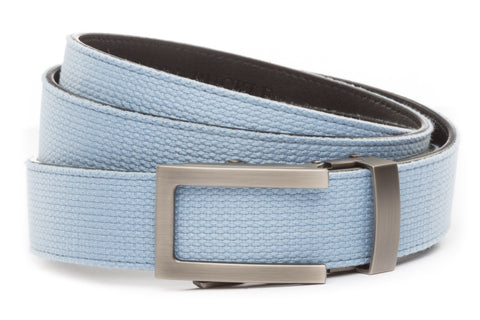 1-25-quot-traditional-buckle-in-gunmetal 1-25-quot-light-blue-canvas-strap