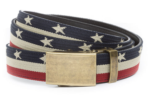 1-25-quot-classic-buckle-in-antiqued-gold 1-25-quot-stars-and-stripes-canvas-strap