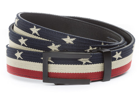 1-25-quot-traditional-buckle-in-black 1-25-quot-stars-and-stripes-canvas-strap