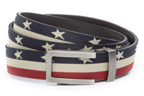 1-25-quot-traditional-buckle-in-gunmetal 1-25-quot-stars-and-stripes-canvas-strap
