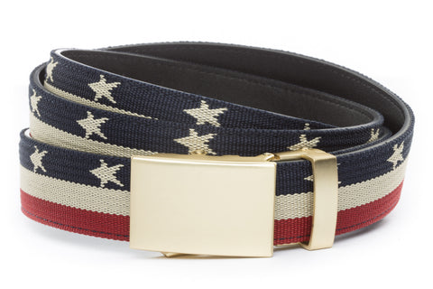 1-25-quot-classic-buckle-in-matte-gold 1-25-quot-stars-and-stripes-canvas-strap