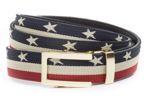 1-25-quot-traditional-buckle-in-gold 1-25-quot-stars-and-stripes-canvas-strap