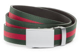 1-25-quot-classic-buckle-in-silver 1-25-quot-green-red-stripe-cloth-strap