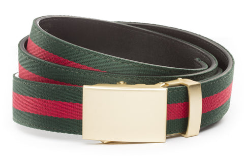 1-25-quot-classic-buckle-in-matte-gold 1-25-quot-green-red-stripe-cloth-strap