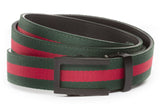1-25-quot-traditional-buckle-in-black 1-25-quot-green-red-stripe-cloth-strap