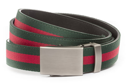 1-25-quot-classic-buckle-in-gunmetal 1-25-quot-green-red-stripe-cloth-strap