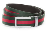 1-25-quot-traditional-buckle-in-silver 1-25-quot-green-red-stripe-cloth-strap