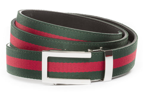 1-25-quot-nickel-free-traditional-buckle 1-25-quot-green-red-stripe-cloth-strap