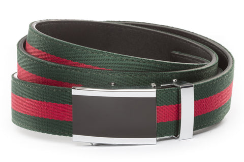 1-25-quot-onyx-buckle 1-25-quot-green-red-stripe-cloth-strap